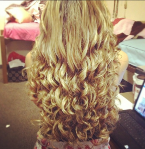 curly long hair