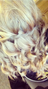 curly waterfall braid for katwalk