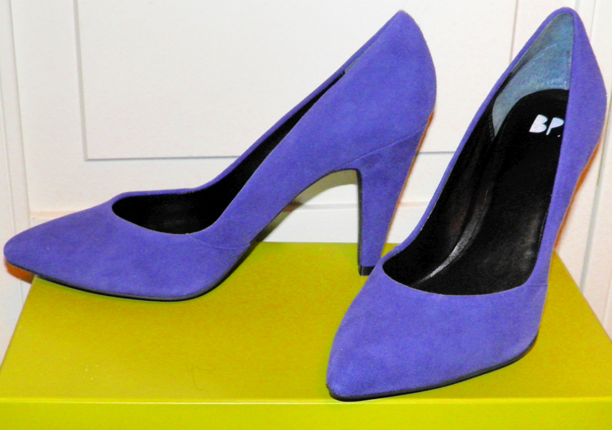 Beautiful blue suede heels from B.P. Nordstrom to go with the rest of my Christmas Eve outfit for only $70!